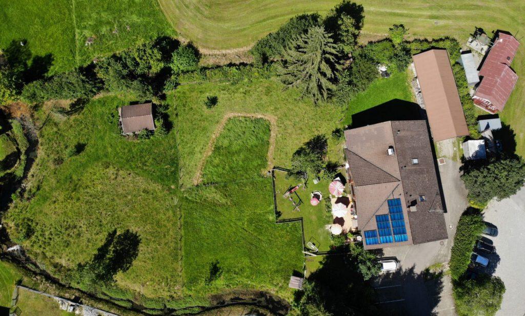 Unser Haus aus der Vogelperspektive